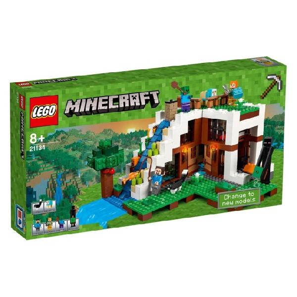 Lego Minecraft 21134 Tukikohta Vesiputouksen Luona
