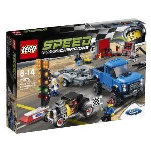 Lego Speed Champions 75875 Ford F-150 ja Fordin A-Mallin Viritetty Auto
