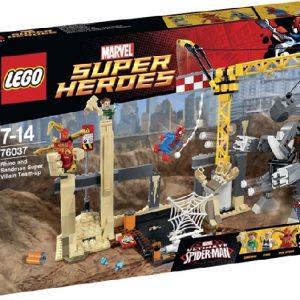 Lego Super Heroes 76037 Superroistot Sarvikuono ja Hiekkamies Yhdistävät Voimansa