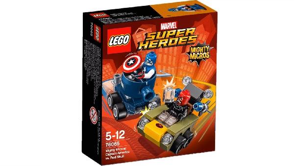 Lego Super Heroes 76065 Mighty Micros : Kapteeni Amerikka Vastaan Punakallo
