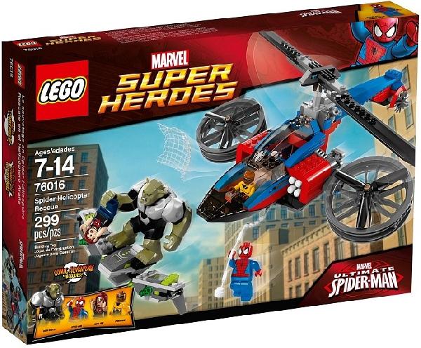 Lego Super Heroes 76016 Spider-Man Hämähäkkihelikopterin Pelastusretk