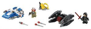 Lego Star Wars 75196 A-siipinen Hävittäjä Vastaan TIE Silencer -mikrohävittäjät