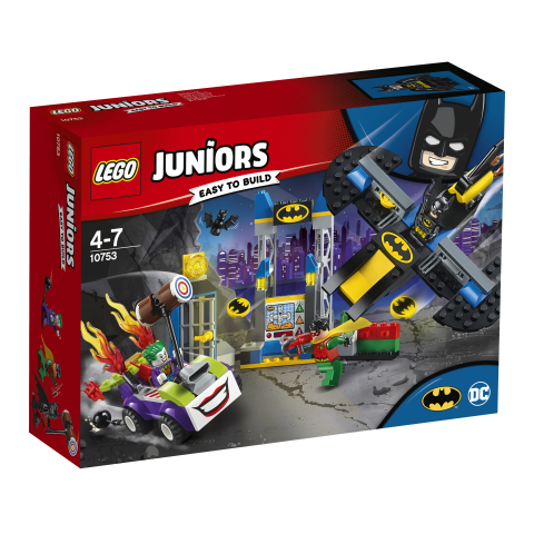 Lego Juniors 10753 Jokerin Hyökkäys Lepakkoluolaan