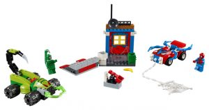 Lego Juniors 10754 Spider-Man Vastaan Scorpion -Katutaistelu