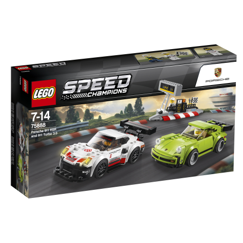 Lego Speed Champions 75888 Porsche 911 RSR ja 911 Turbo 3.0
