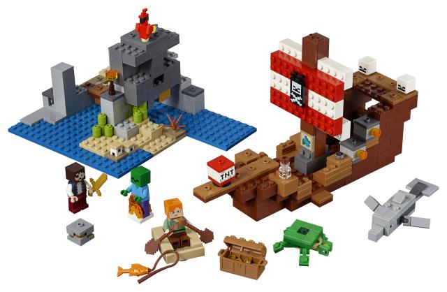 Lego Minecraft 21152 Merirosvolaivaseikkailu