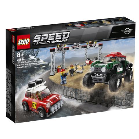 Lego Speed Champions 75894 1967 Mini Cooper S Rally ja 2018 MINI John Cooper Works Buggy