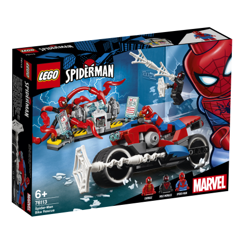 Lego Super Heroes 76113 Spider-Manin Pyöräpelastusoperaatio