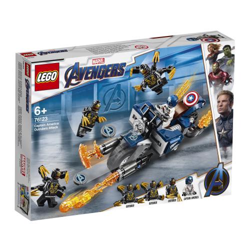 Lego Super Heroes 76123 Captain America: Outriderien Hyökkäys