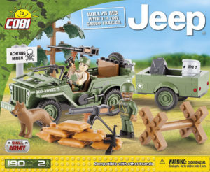 Cobi Jeep Willys MB With 1/4 Ton Cargo Trailer C24192