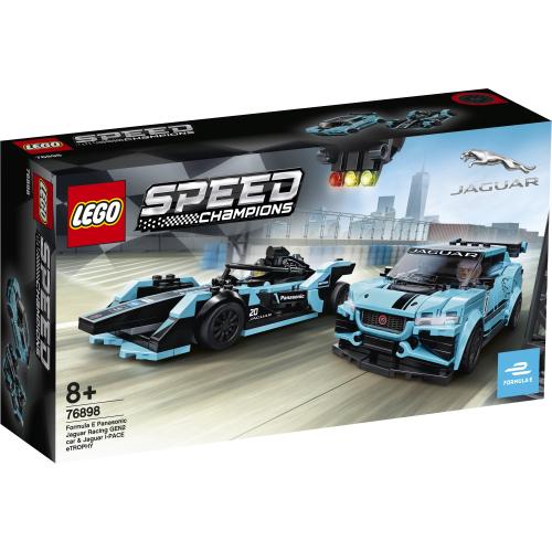 Lego Speed Champions 76898 Formula E Panasonic Jaguar Racing GEN2 car & Jaguar I-PACE eTROPHY