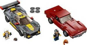 Lego Speed Champions 76903 Chevrolet Corvette C8.R -kilpa-auto ja 1968 Chevrolet Corvette